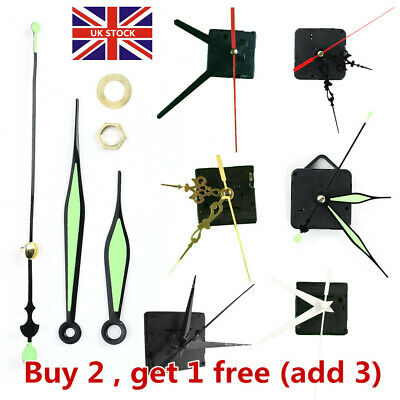 DIY Black Quartz Wall Clock Movement Mechanism Replacement Repair Tools