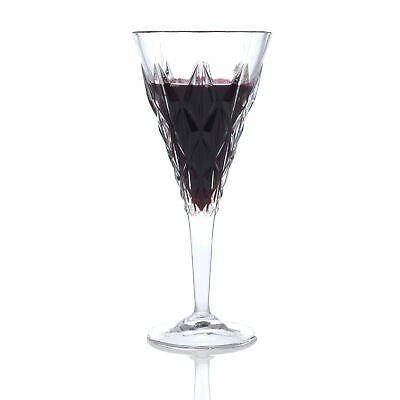 Set of 6x RCR Italian Crystal Enigma Red Wine Glass 360ml -In Gift/Presentation