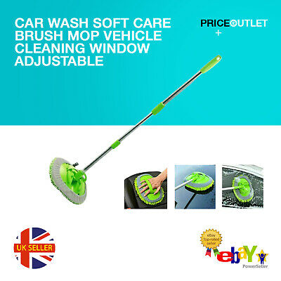 Car Wash Soft Care Brush Mop Vehicle Cleaning Window Adjustable Telescopic 2020
