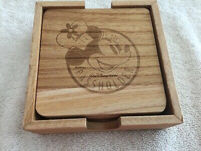 Exclusive 2019 Walt Disney World Passholder Minnie Mouse Set Of 4 Coasters - New