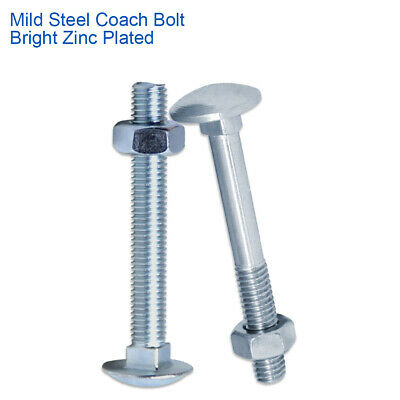 COACH SCREWS LAG BOLTS 12mm 50mm TO 150mm BZP ZINC HEX CARRIAGE SCREW M12