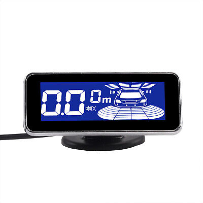 Rear Reversing Car Parking Sensors Kit Audio Buzzer Alarm LED Display - Silver