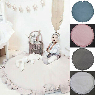 Baby Kids Round Cotton Game Activity Play Mat Crawling Blanket Floor Rug Cute
