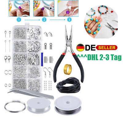 Jewellery Making Kit Wire Findings Pliers Necklace Earring Ring Repair Tool