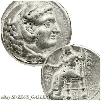 ALEXANDER the Great Lifetime Issue Tetradrachm BEE Ancient Silver Coin Herakles