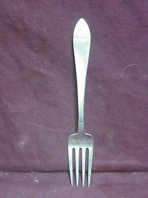 """Tiffany & Co Sterling Pat 1870 QUEEN ANNE SERVING FORK 8 3/4"""" 82g mono L"""