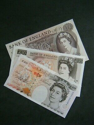 ENGLISH TEN POUND NOTE £10 - 1964 to 2011 - Choose your cashier