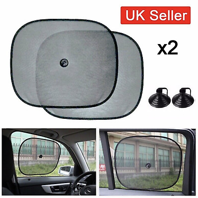 2 x Baby Car Window Shades Black Mesh Blinds Sun Stopper  Visor Shield Cover Dog