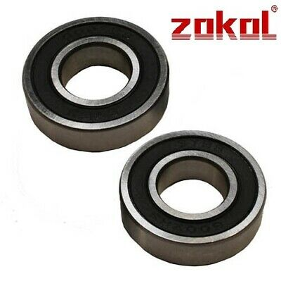 TWO R6RS BEARINGS MADE BY ZOKOL . FREE 1st CLASS POST SAME DAY R62RS R6-2RS