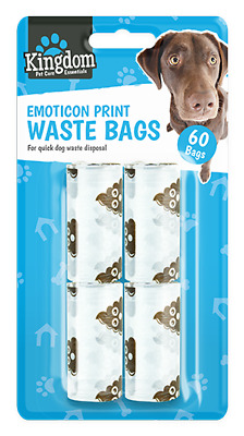 Dog Poo Bags Doggy Poo Bags Scented Tie Up Bags Pick Up Waste Disposable Hygiene