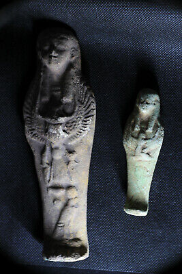 2-RARE ANCIENT EGYPTIAN ANTIQUE Shabti Ushabti Statue 1459-1245 BC