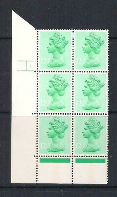 GB Machin Cylinder Block, 12.5p Cyl 1 no dot, EEH block, MNH