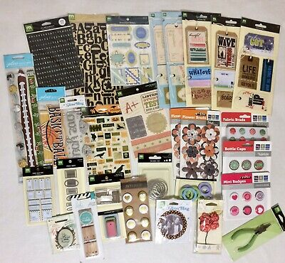 864 NEW Packages WHOLESALE Scrapbooking Embellishments Label Craft Stickers HUGE