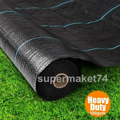 1,2,3,4m Extra Heavy Duty garden weed control fabric ground cover membrane sheet