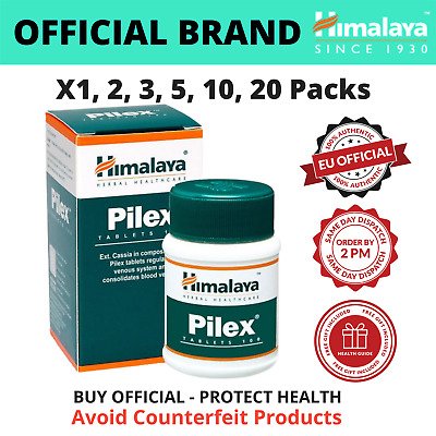HIMALAYA Pilex (100 - 1000 Tabs) | All Natural Piles Hemorrhoids Support