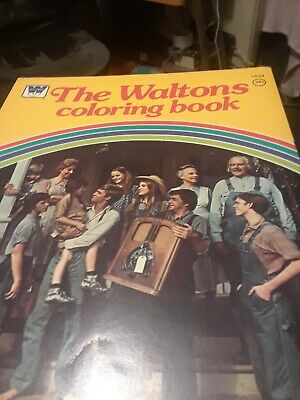 Vintage Witman The Waltons Coloring Book 1 Page Colored.