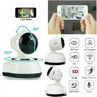720P HD Wireless WIFI IP CCTV Camera Smart Home Security Night Vision Indoor