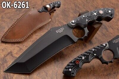 "11.5"" Black Bull 12 Mm 52100 Bearing Steel Massive Tactical Tanto  Knife 6261"