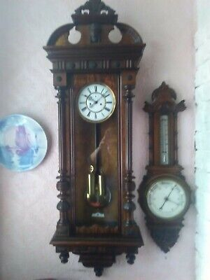 Antique Vienna Wall Clock - Superb Condition, Mahogany - Victorian