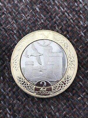 "1 x 2017 ISLE OF MAN ""TOWER OF REFUGE"" TWO POUNDS £2 COIN - IoM MANX TOWER MINT"