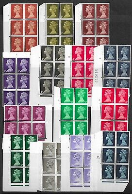Collection of UNMOUNTED MINT QEII Pre-Decimal Machins blocks of 6 stamps.