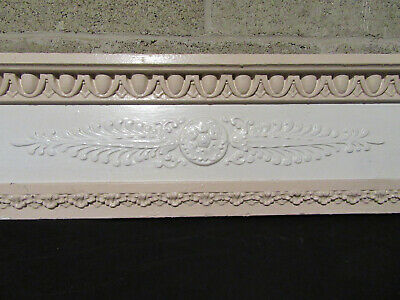 ~ ANTIQUE CARVED PEDIMENT CROWN ~ 44.5 x 10 ~ ARCHITECTURAL SALVAGE