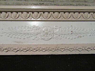 ~ ANTIQUE CARVED PEDIMENT CROWN ~ 46.25 x 10 ~ ARCHITECTURAL SALVAGE