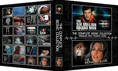 SIX MILLION DOLLAR MAN/BIONIC WOMAN COMPLETE 3-Ring Binder Trading Card Album