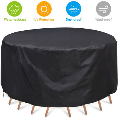 UK Large Round Waterproof Outdoor Garden Patio Table Chair Set Furniture Cover