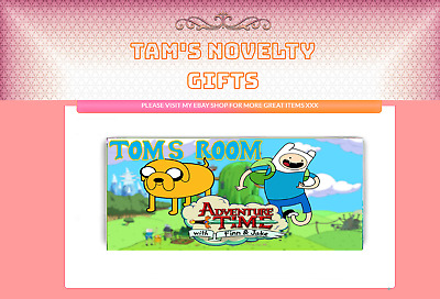 Adventure time personalised door plaque gift free uk postage gift idea