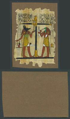 Egypt Genuine Hand Painted Papyrus Old Card Novelty Egyptian Art Dog Bird Scales