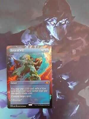 Force of Will Double Masters Mtg - Showcase Mythic Foil