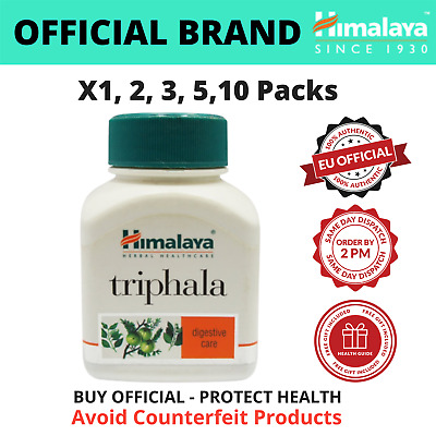 Himalaya Triphala | 60 - 600 Tabs | Colon Cleanse & Constipation Relief | Veg