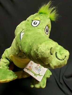 "DR Seuss ABC Green Alligator  Plush Stuffed Animal Soft Toy Kohls Cares 19/"" Long"