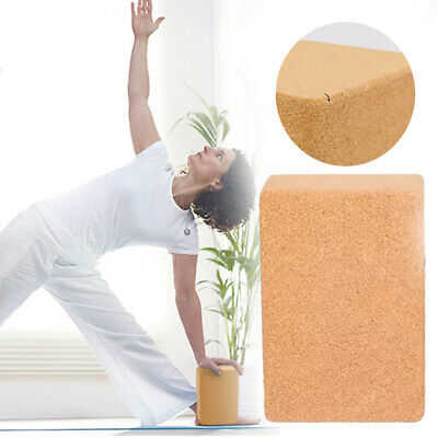 Accessories Yoga Block Portable Fitness Sport Dancing Stretch Aid Natural Cork