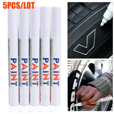 5X Universal Waterproof Permanent Paint Marker Pen Car Tire Tyre Rubber Oil Base