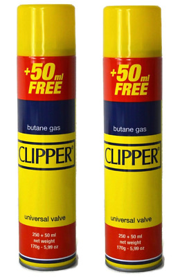 Genuine Clipper  Butane Gas 300Ml Refills Lighters Universal Valve Fit To All