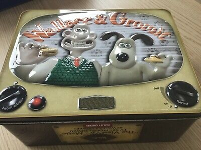 NEW!! Official Licensed Aardman Wallace /& Gromit Storage Tin
