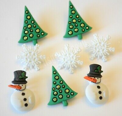 NIP Dress It Up Holiday Collection Snowy Friends Christmas Embellishments