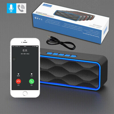 Portable Wireless Bluetooth Speaker Waterproof Stereo Bass USB/AUX/TF MP3 Player