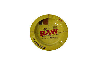 Raw Rolling Papers Logo Design Round Metal Ashtray 5 1//2 Inches Wide