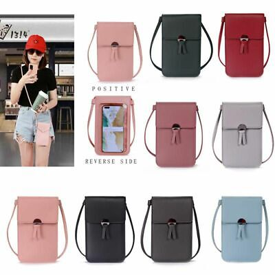 KD/_ Retro Women/'s Wallet Purse Leather Coin Cell Phone Cross-body Shoulder Bag