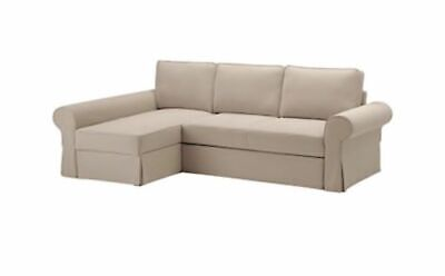 Ikea Cover For Backabro Sofa Bed With Chaise In Hylte Beige 503 232 53 Eur 280 62 Picclick Fr