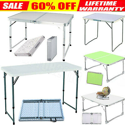 Portable Folding Catering Trestle Table BBQ Party Camping Desk Picnic Heavy Duty
