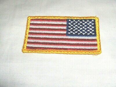 EMBROIDERED AMERICAN FLAG SHOULDER PATCH #234* LAW ENFORCEMENT BOY SCOUTS