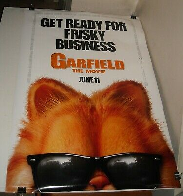 Garfield Tail Of Two Kitties D S Bill Murry 13 5x20 Promo Movie Poster 1 75 Picclick Uk