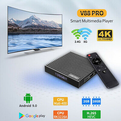 Media Player Streaming WIFI 4K HD Home Theater Set Top TV Box For Android 9.0