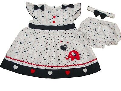 BNWT Baby Girls Summer Daisy Dress Outfit Knickers /& Hairband