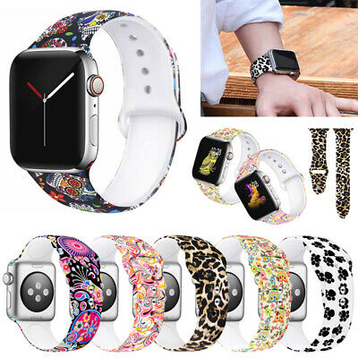 Sport Silicon Watch Band Strap For iWatch Apple Watch Series 5-1 Replacement US