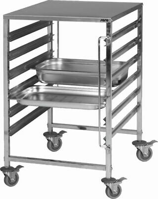 Stainless Steel Shelf Trolley Clearing Trolley Service Cart For 1/1GN M Desktop